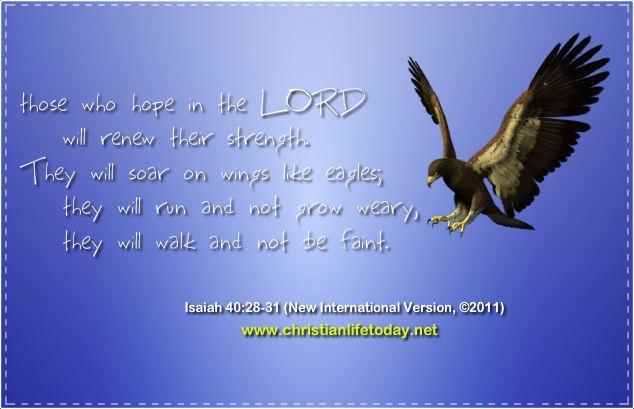 Isaiah 40v28 Renew Strength