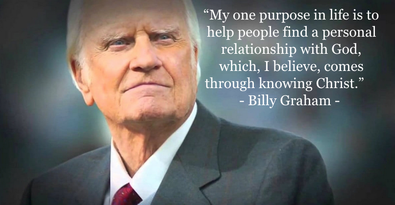 billy graham evangelism Jesus quote