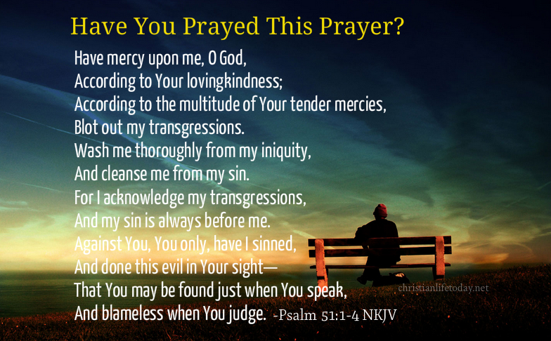 Psalm 51 a prayer of repentance