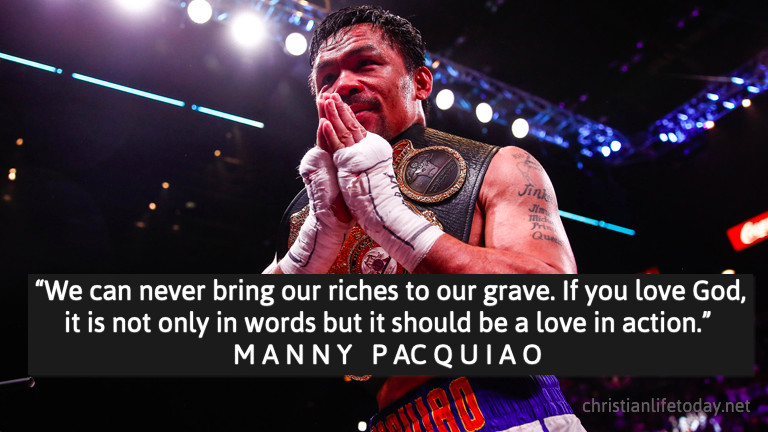 Manny Pacqiuao quote faith