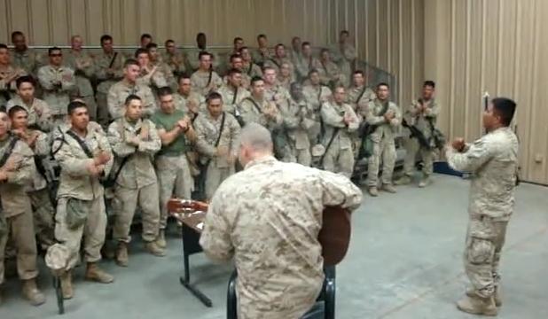 Marines singing praise and worship