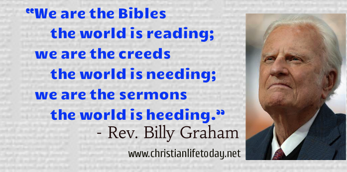 Billy Graham Quote Christian life