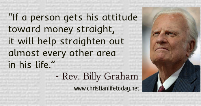 Billy Graham Quotes Money