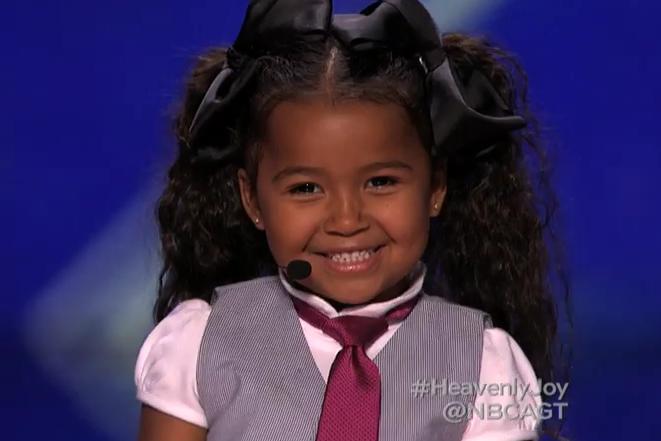 Heavenly Joy A Cute Kid Taps and Sings In Summer from Frozen  America's Got Talent 2015