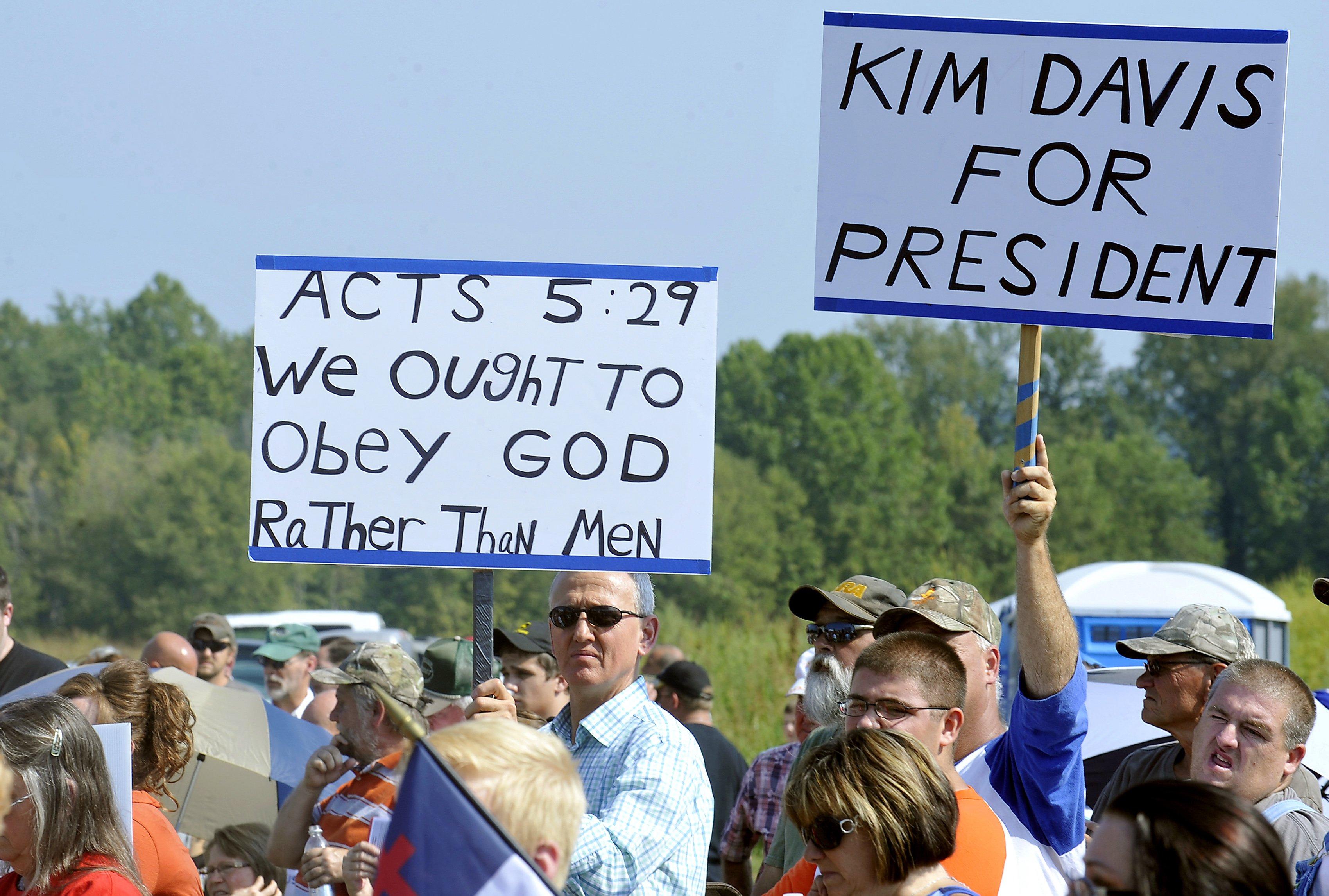 Kim Davis Debate It's Not About Marriage
