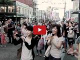 Vancouver Christian Flash Mob Dancing on the Streets 2