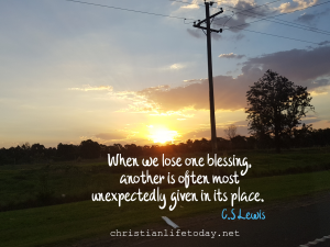 C S Lewis when we lose our blessings another is