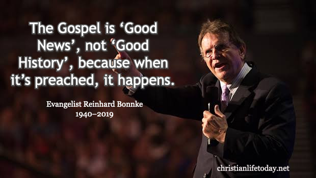 Inspiring Quotes of Evangelist Reinhard Bonnke